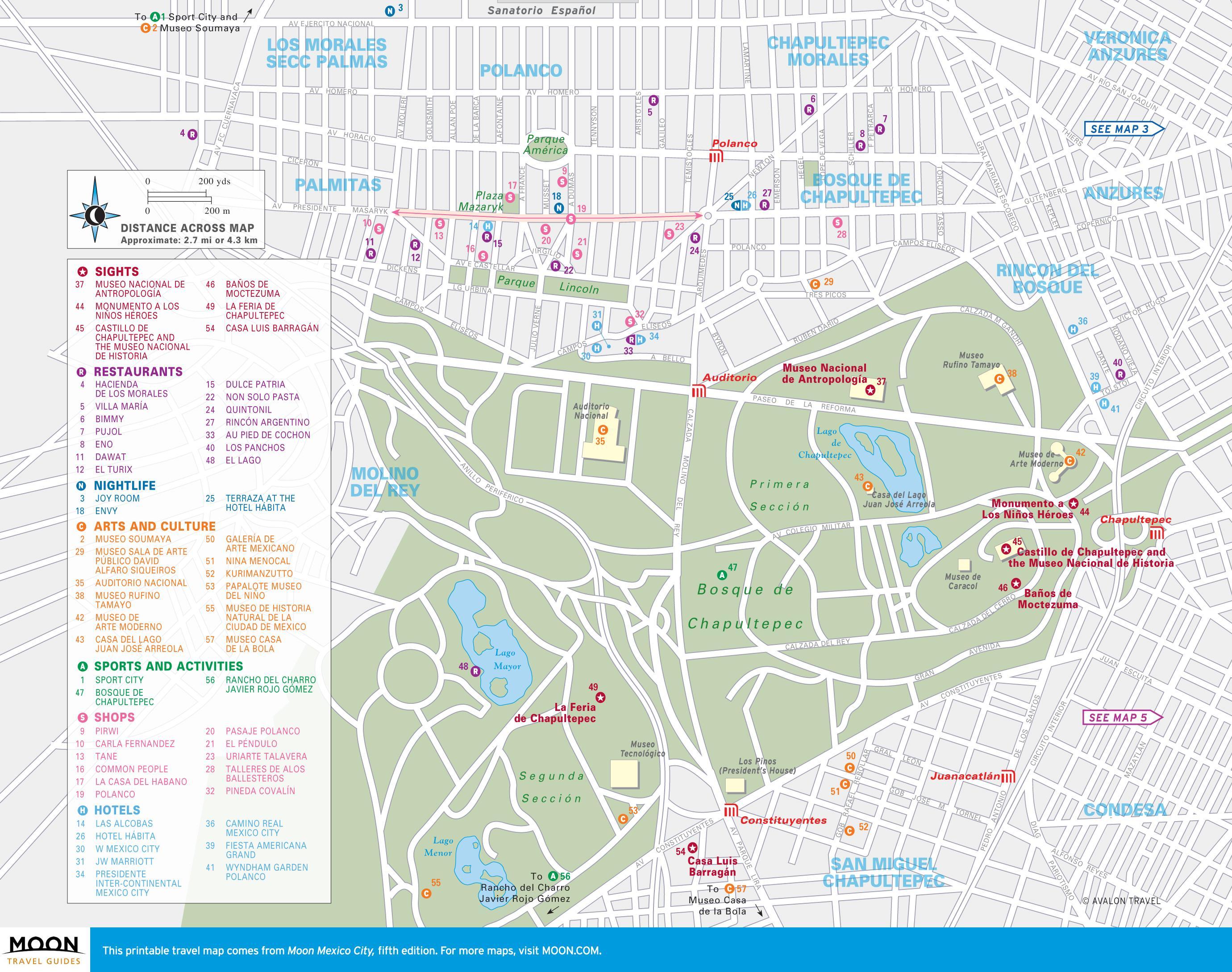 Map of polanco Mexico City - Map of polanco Mexico City (Mexico)