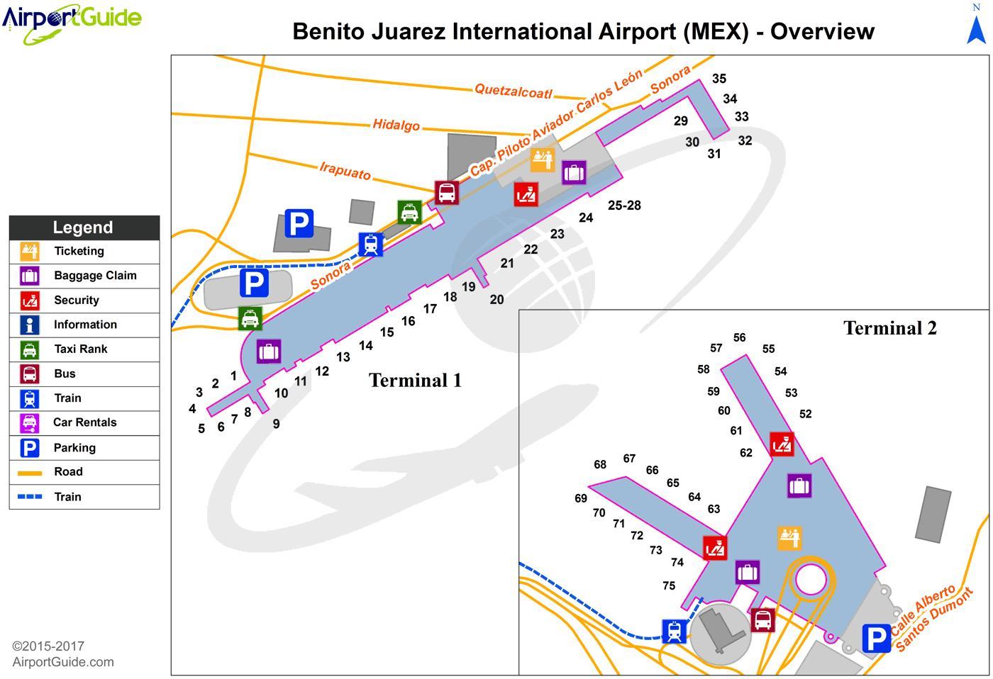 Mexico City Airport Map Terminal 1 Mexico City Terminal