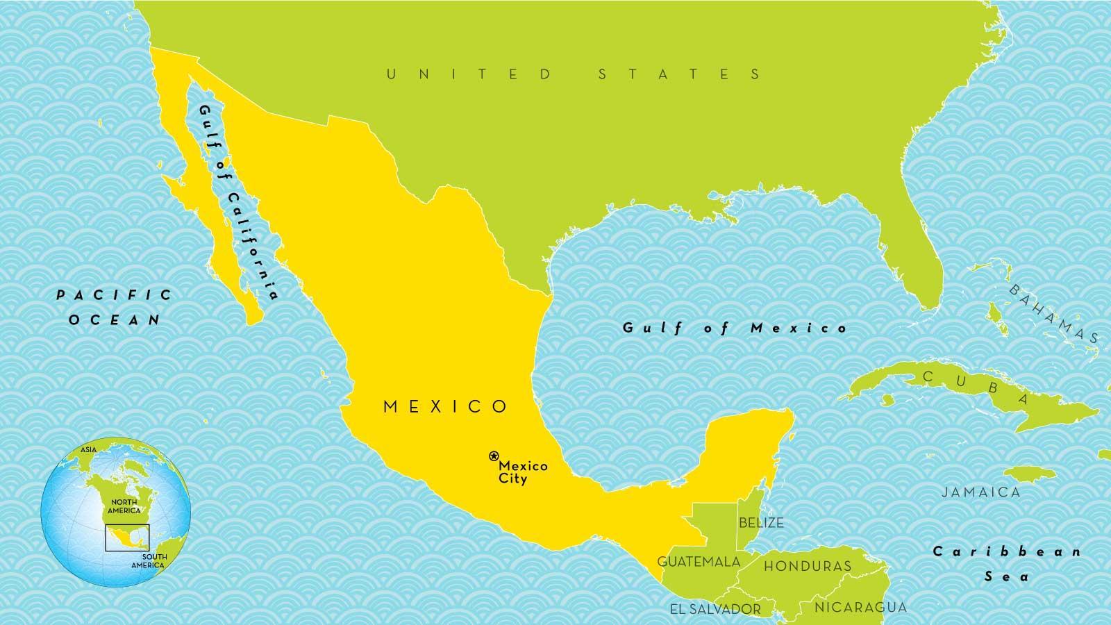 Mexico City world map - A map of Mexico City (Mexico)