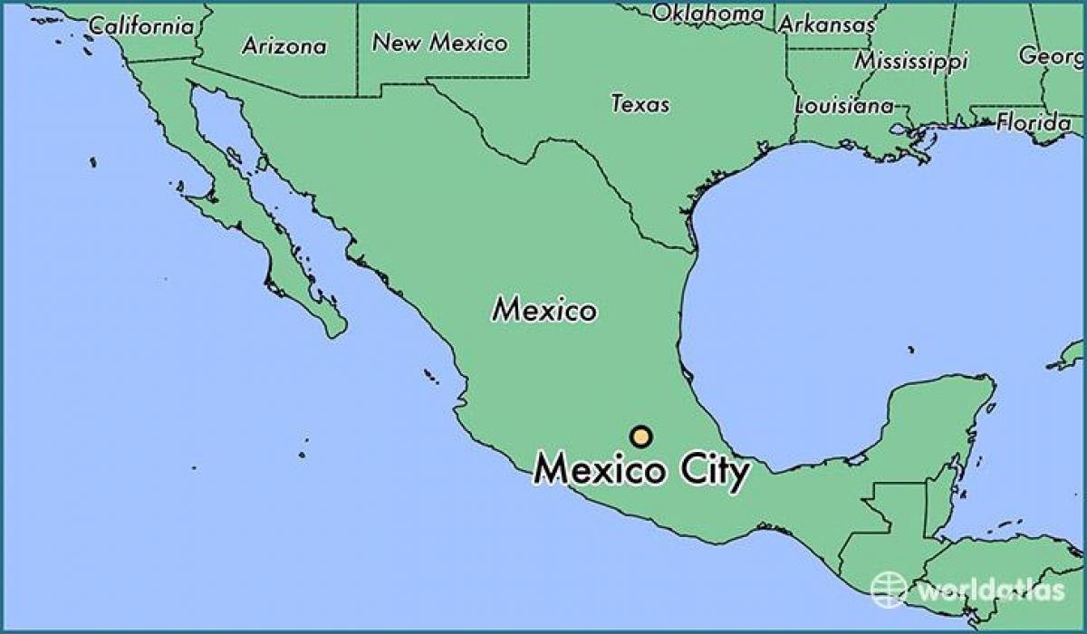 Mexico City map - Mexico City Mexico map (Mexico)